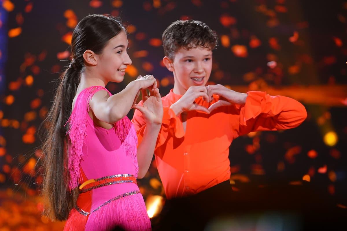 Platz 2 Let's dance Kids 2021 Angelina Stecher-Williams - Erik Rettich