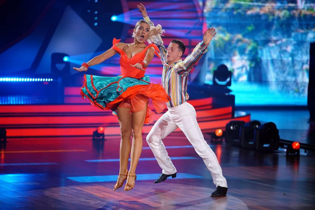 Valentina Pahde und Valentin Lusin bei Let's dance am 16.4.2021