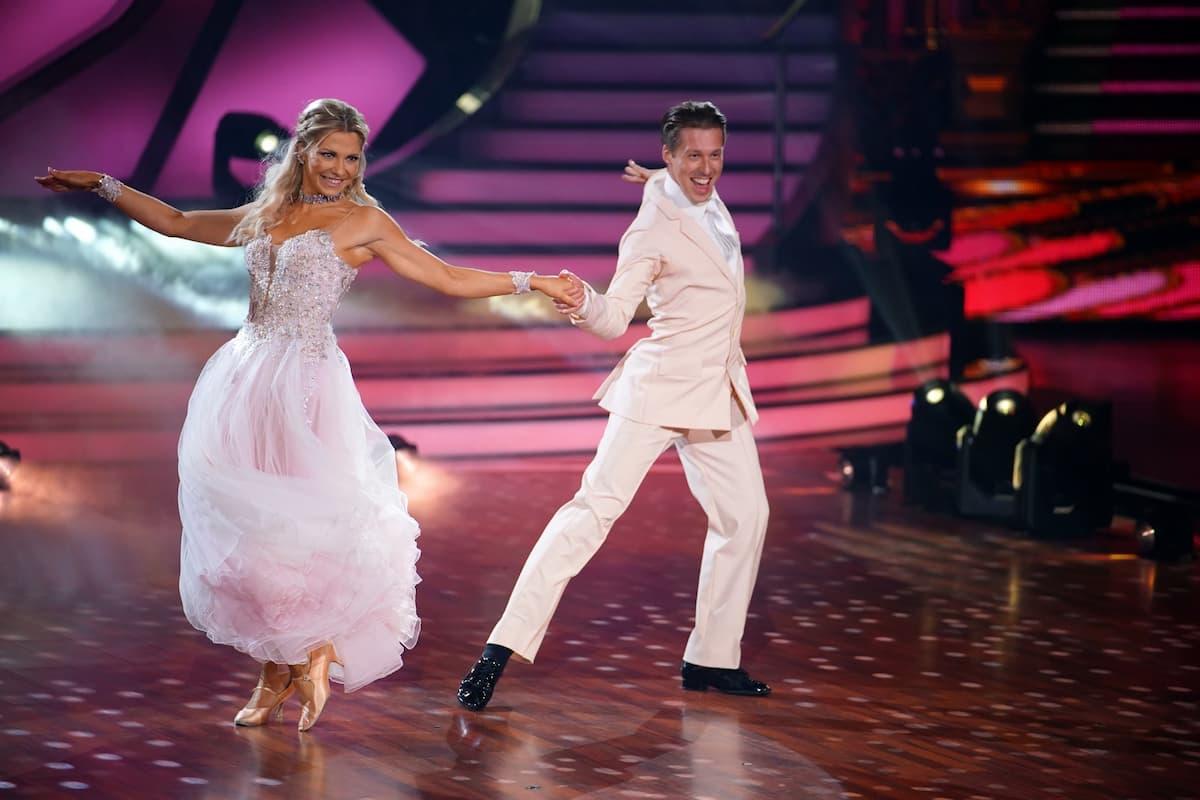 Valentina Pahde und Valentin Lusin bei Let's dance am 9.4.2021
