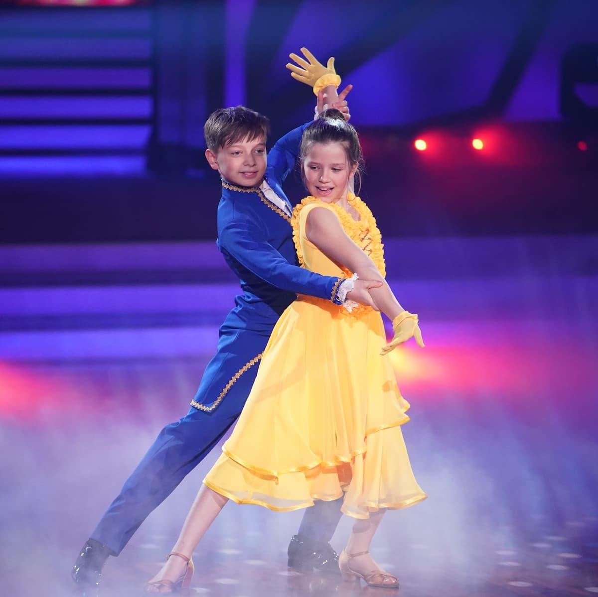 Zoe und Mischa bei Let's dance Kids am 23.5.2021