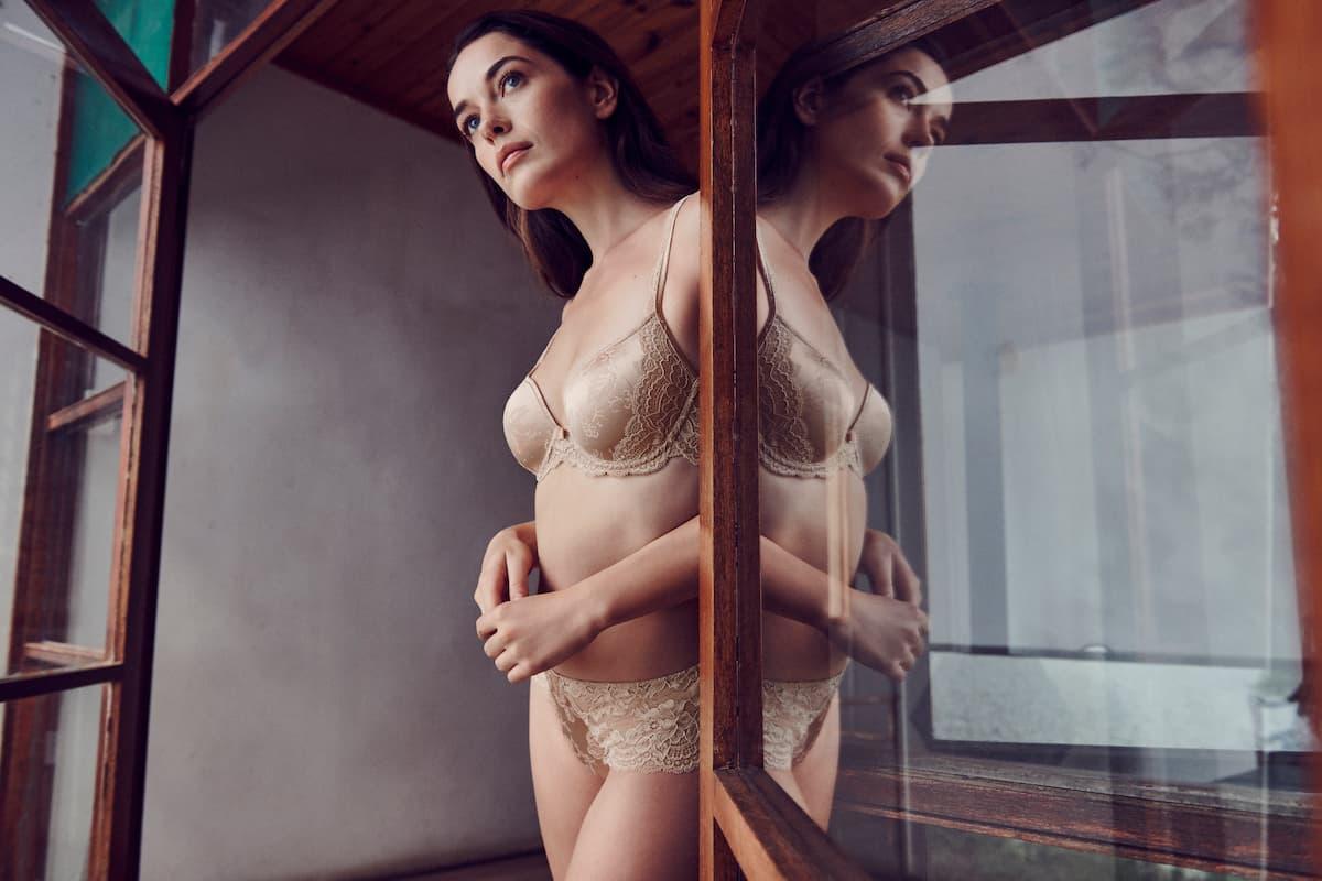 Damen-Unterwäsche 2021 Marie Jo Modell Sylvia, Farbe Glossy Sand