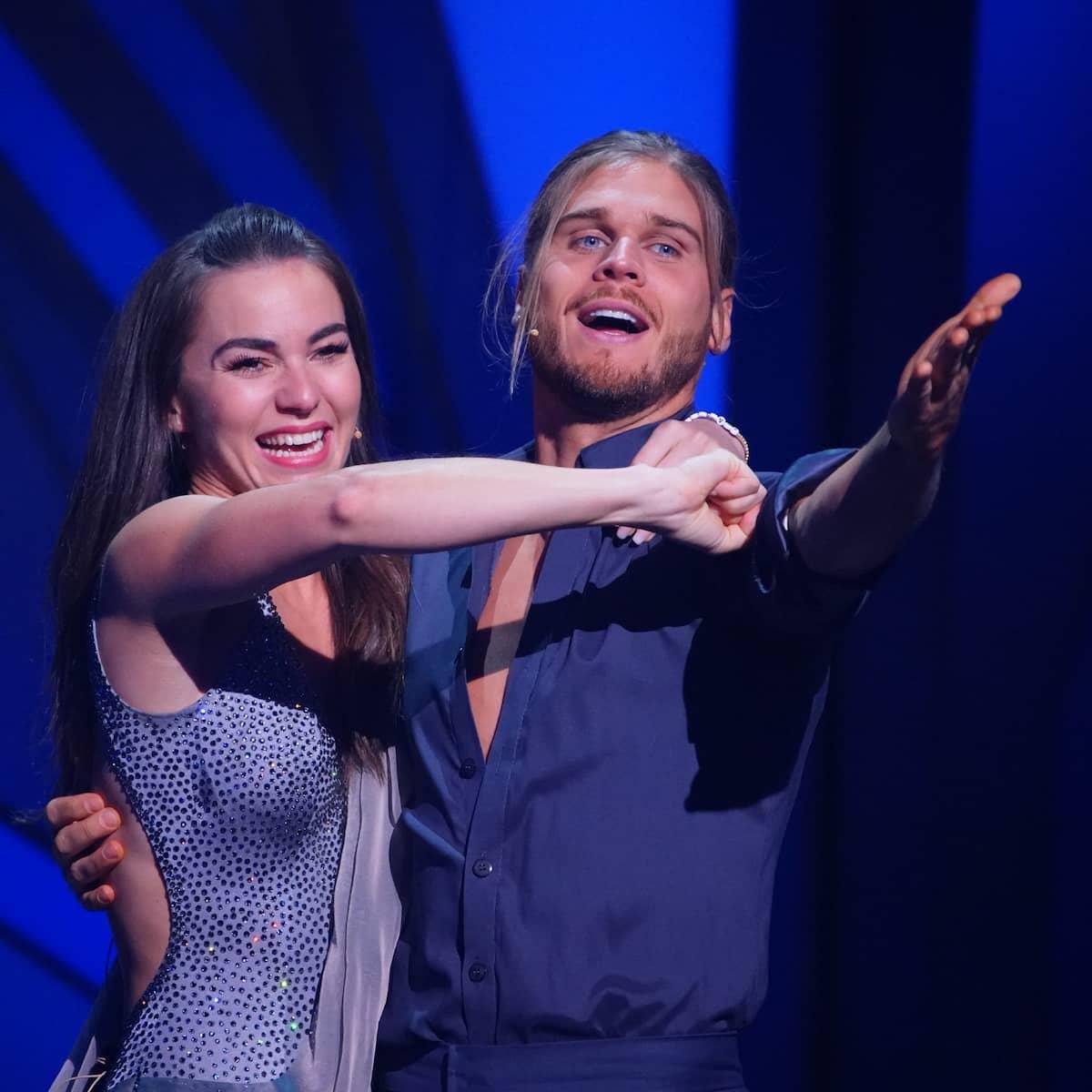 Renata Lusin und Rurik Gislason freuen sich über ihren Einzug ins Finale bei Let's dance am 21.5.2021