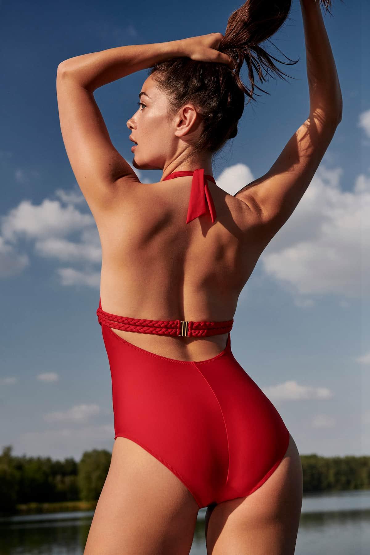 Roter Badeanzug Modell Blanche von Marie Jo Swim für die Bademode 2021