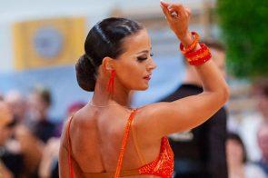 Tanzsport Ergebnis Österreichische Staatsmeisterschaft Latein 2021 - hier im Bild Katharina Würrer