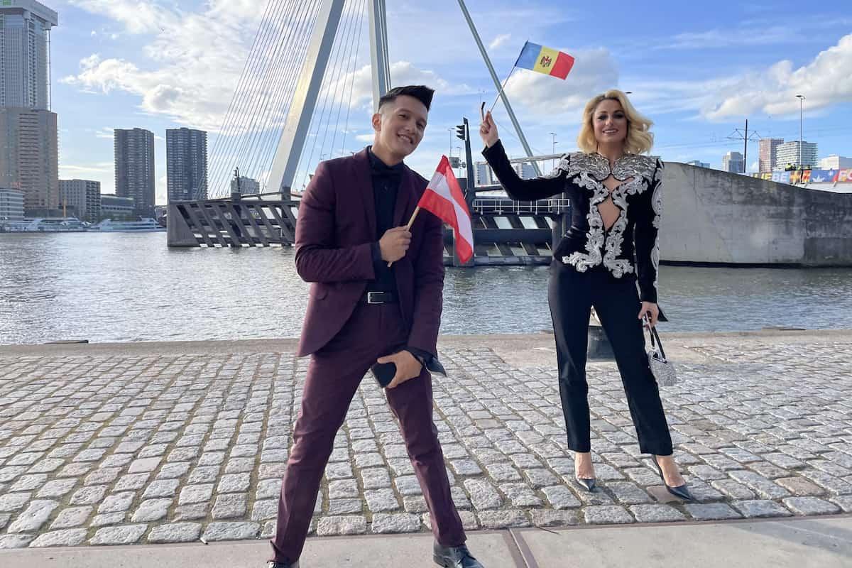 Vincent Bueno und Natalia Gordienko aus Moldau beim ESC 2021
