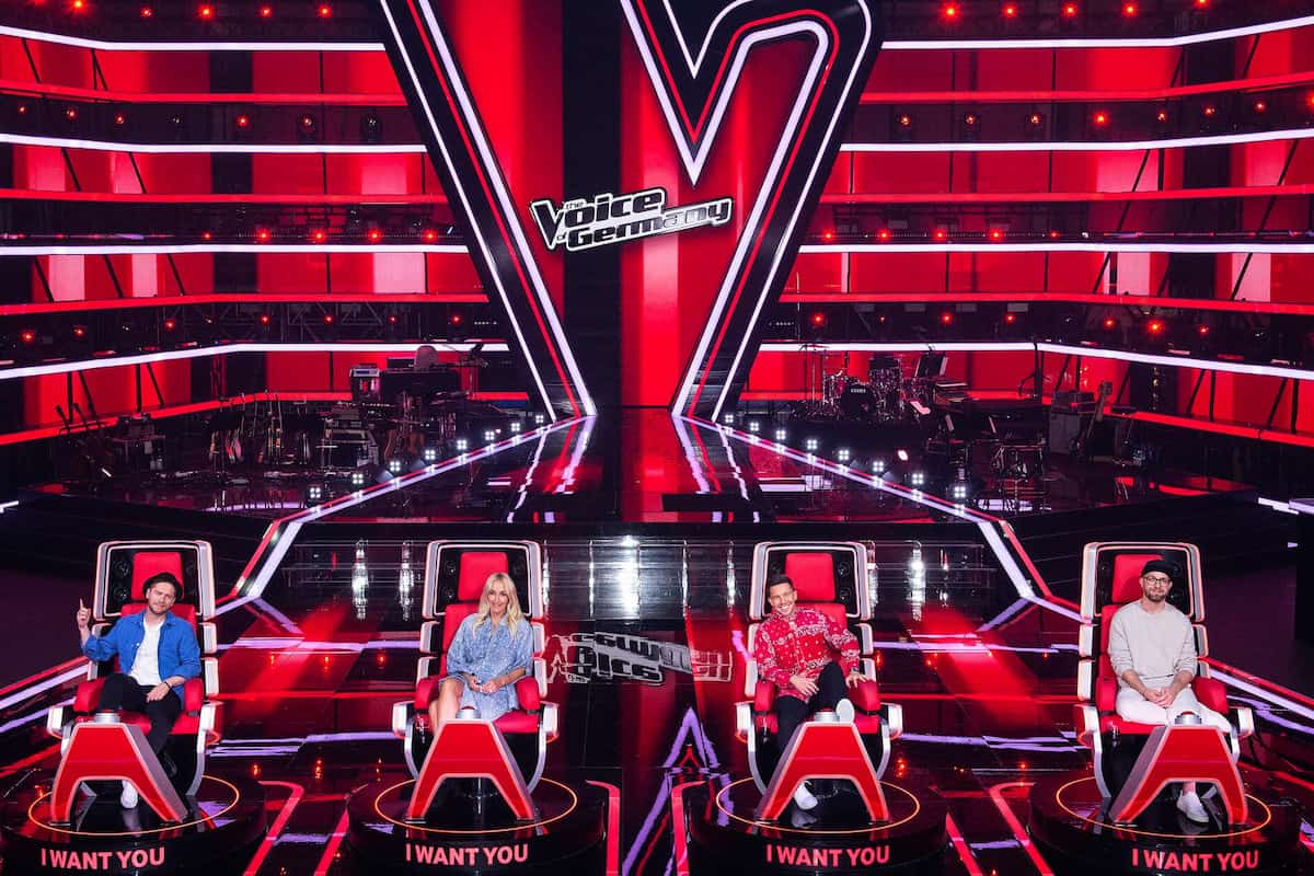 Coaches The Voice of Germany 2021 Johannes Oerding, Sarah Connor, Nico Santos und Mark Forster