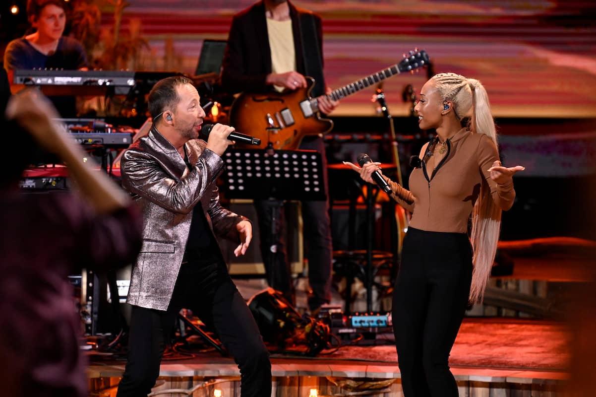 DJ Bobo und Nura bei ihrem Duett bei Sing meinen Song am 8.6.2021