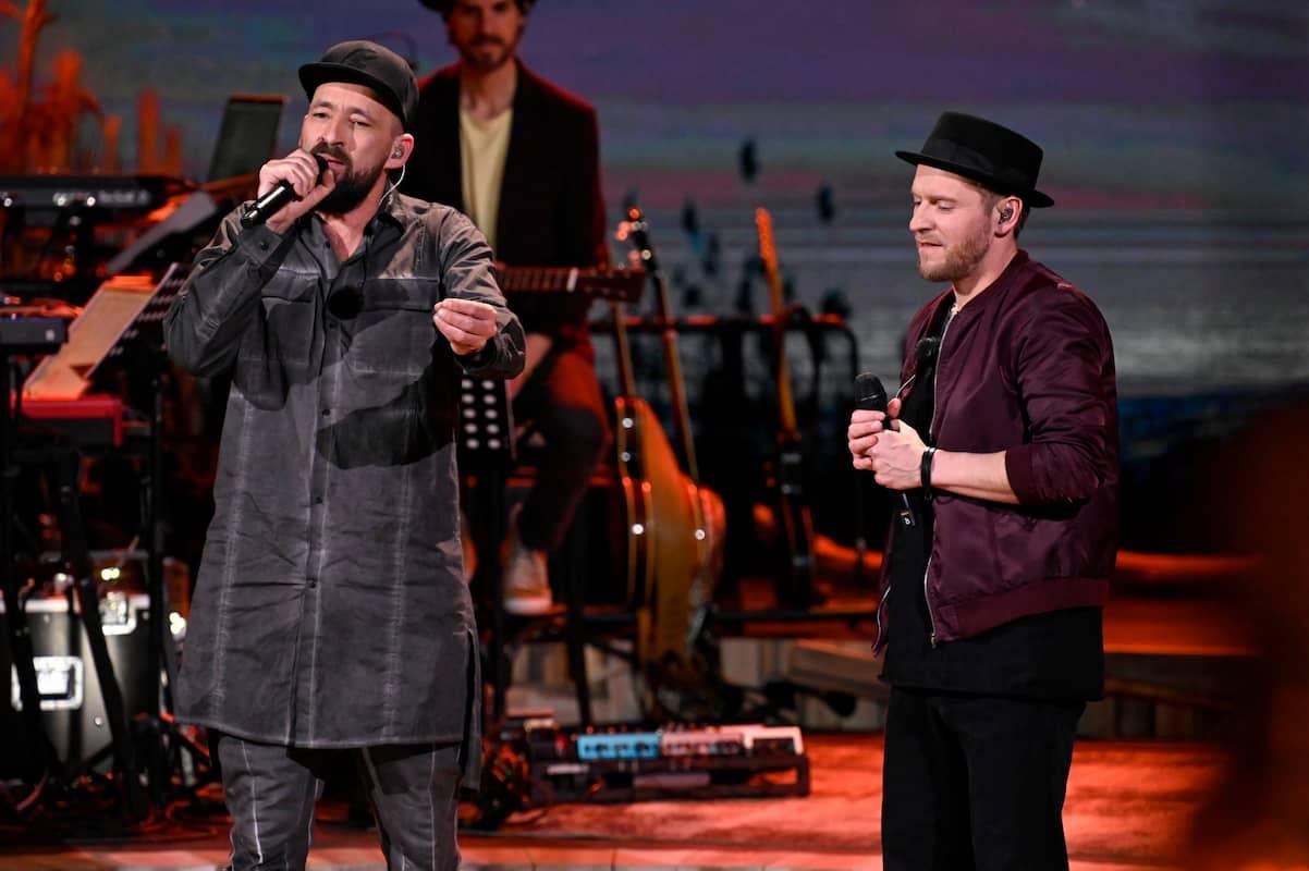 Gentleman und Johannes Oerding bei ihrem Duett bei Sing meinen Song am 8.6.2021