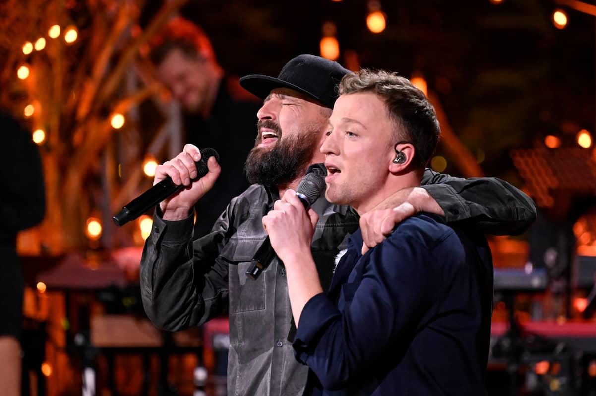 Gentleman und Joris bei ihrem Duett bei Sing meinen Song am 8.6.2021