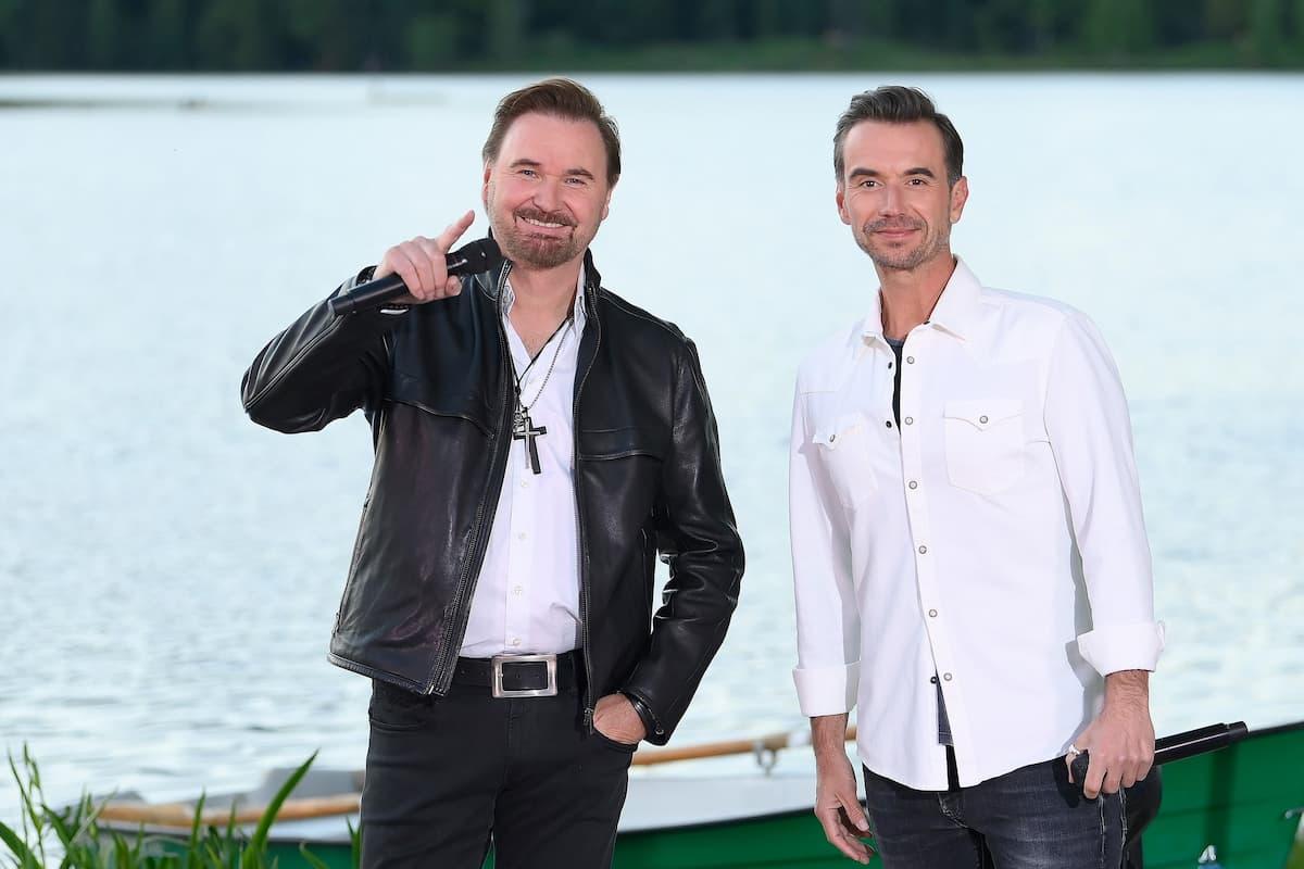 Nik P mit Florian Silbereisen beim Schlager-Countdown am 5.6.2021