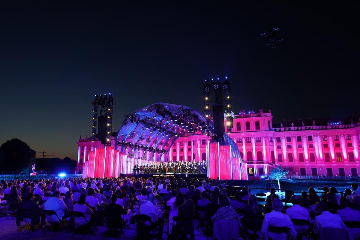 Sommernachtskonzert 2021 Wiener Philharmoniker 18.6.2021 in Schönbrunn - Wien