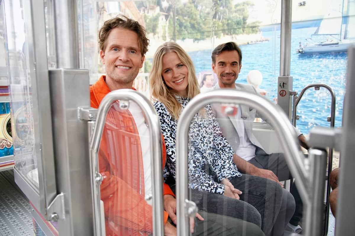 DSDS Jury 2022 während der Jury-Castings - im Bild Toby Gad, Ilse DeLange und Florian Silbereisen