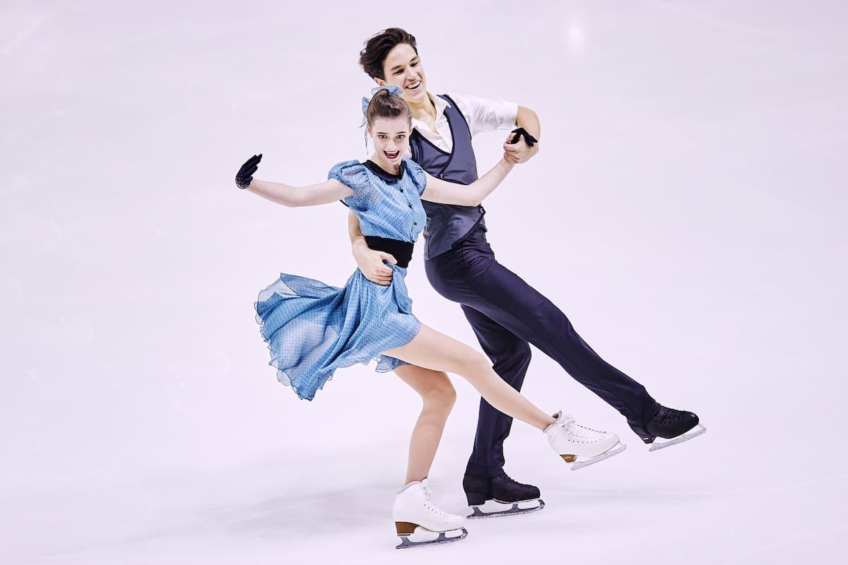 Darya Grimm - Michail Savitskiy aus Deutschland beim ISU Junior Grand Prix 2021 in Courchevel 1 im Rhythm Dance