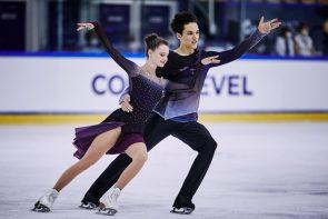 Eiskunstlauf Junior Grand Prix Courchevel 19.-21.8.2021 Ergebnisse, Zeitplan - hier im Bild Darya Grimm - Michail Savitskiy aus Deutschland