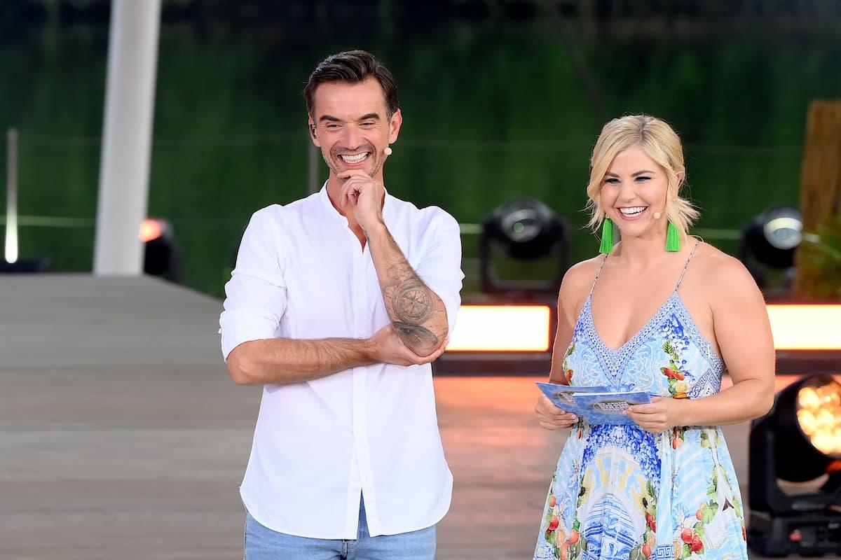 Florian Silbereisen mit Beatrice Egli am 14.8.2021 im Fernsehen