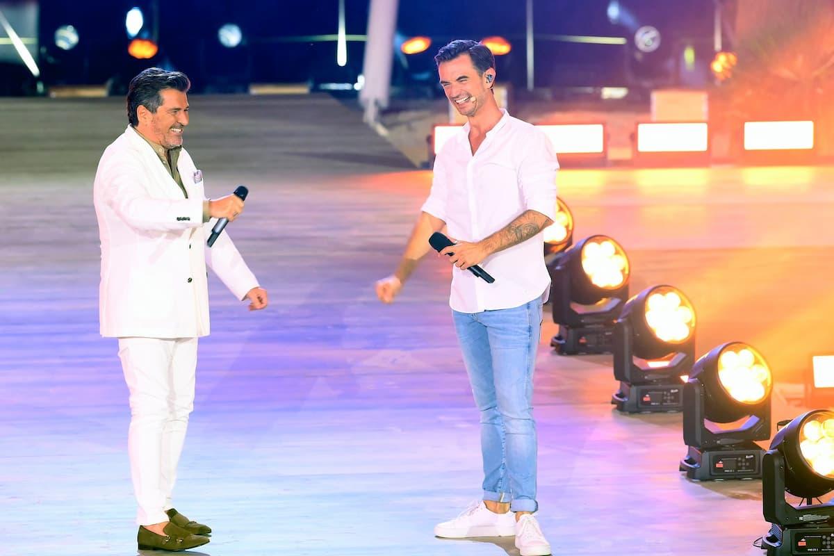 Florian Silbereisen mit Thomas Anders am 14.8.2021 im Fernsehen