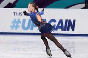 Eiskunstlauf ISU Junior Grand Prix 30.9.-2.10.2021 Gdansk Ergebnisse, Zeitplan, Übertragungen - hier im Bild Sofia Akateva aus Russland