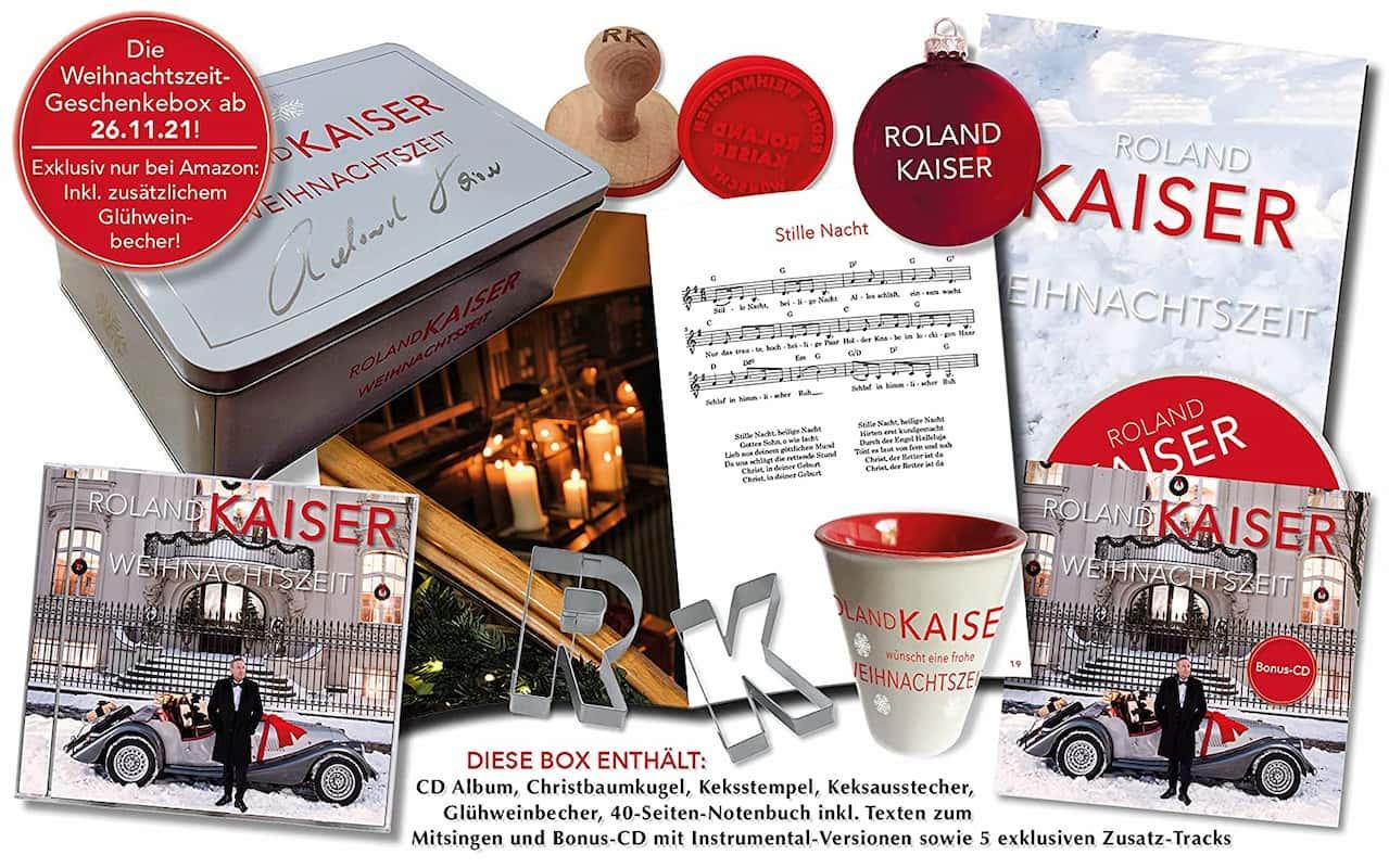 """Fan-Box Album """"Weihnachtszeit"""" von Roland Kaiser 2021 von amazon"""