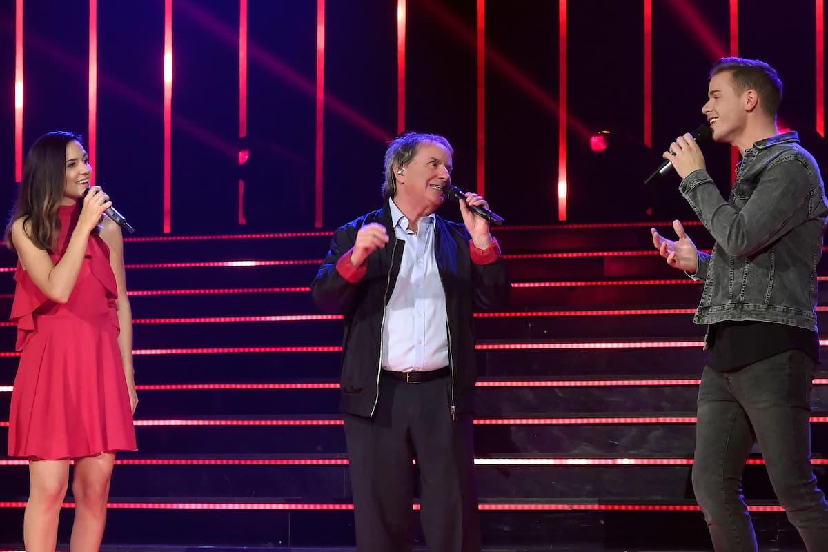 Romy Kirsch, Christ de Burgh und Eric Philippi singen gemeinsam bei der Schlager-Challenge am 4.9.2021