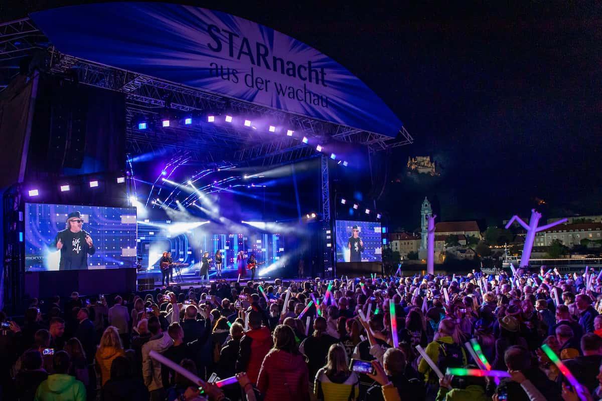 Starnacht aus der Wachau am 25.9.2021 - Bühne und Publikum