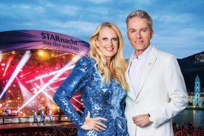 Starnacht aus der Wachau am 25.9.2021 Gäste im ORF und MDR - hier im Bild Barbara Schöneberger und Alfons Haider