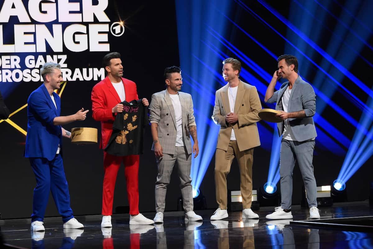 Team 5ÜNF mit Florian Silbereisen bei der Schlager-Challenge am 4.9.2021