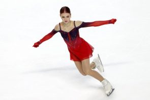 Eiskunstlauf ISU Grand Prix 2021 Skate America 22.-24.10.2021 Las Vegas - hier Alexandra Trusova