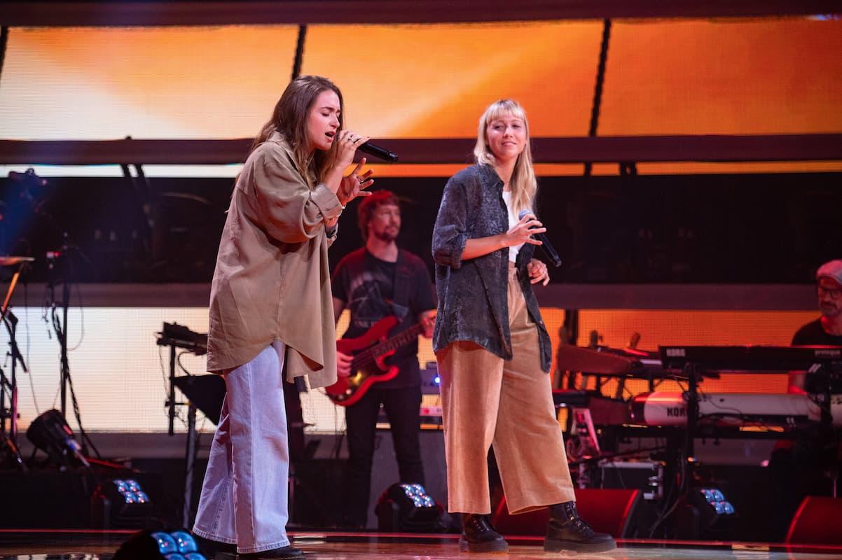 Julia und Barbara bei The Voice of Germany am 14.10.2021